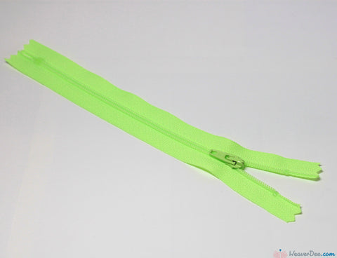 YKK - Regular Skirt & Dress Zip [872 Fluorescent Green] - WeaverDee.com Sewing & Crafts
