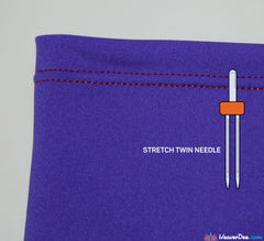 4MM Stretch Twin Machine Needle Value Pack of 2