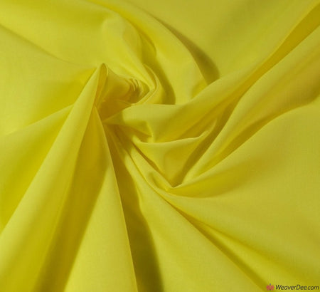 Plain Poly Cotton Fabric / Sunshine Yellow