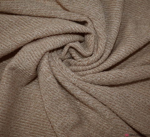 Super Soft Rib Knit Jersey Fabric - Nude