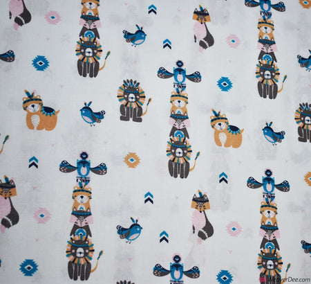 Cotton Craft Company Fabric - Totem Animals