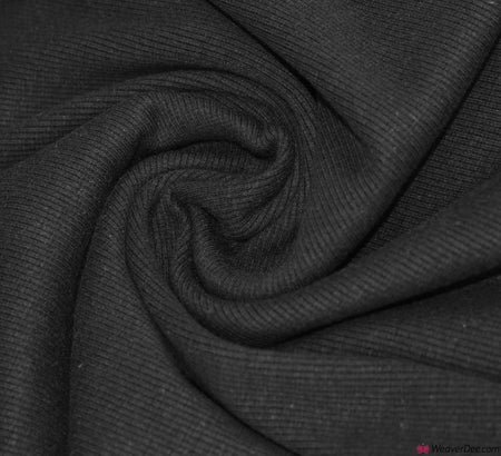 Tubular Ribbing Cotton Fabric - Black