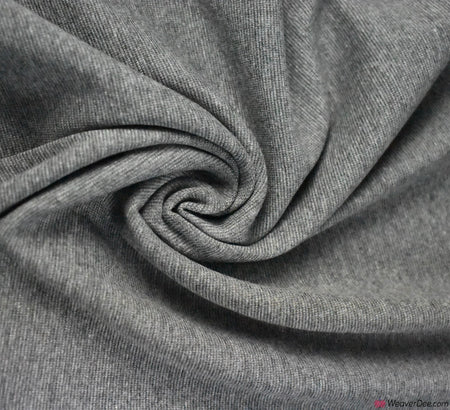 Tubular Ribbing Cotton Fabric - Marl Grey