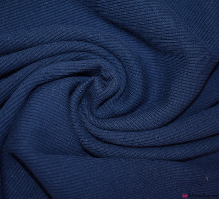 Tubular Ribbing Cotton Fabric - Navy Blue