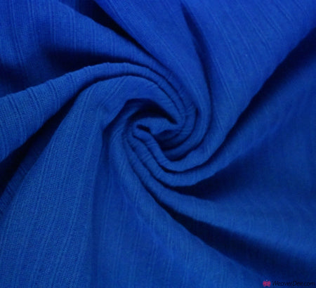 Tubular Ribbing Cotton Fabric - Royal Blue