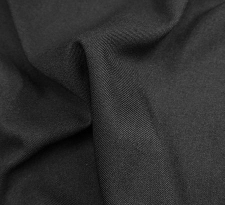 Plain Black Viscose Twill Fabric