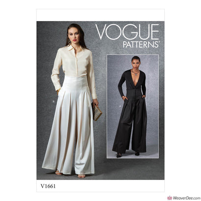 Vogue Pattern V1661 Misses' Trousers