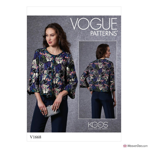 Vogue Pattern V1668 Misses' Jacket