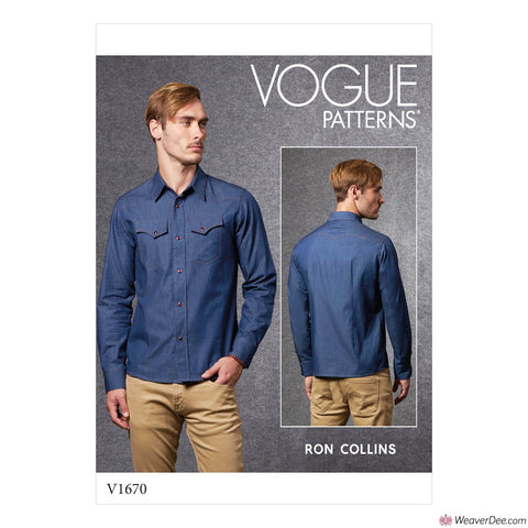 Vogue Pattern V1670 Men's Shirt
