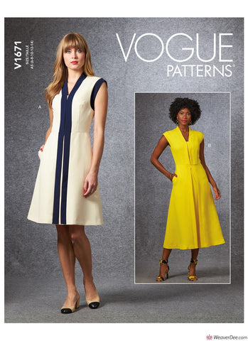 Vogue Pattern V1671 Misses' Dress
