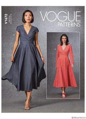Vogue Pattern V1672 Misses' Dress