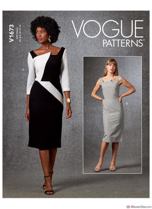 Vogue Pattern V1673 Misses' Dress
