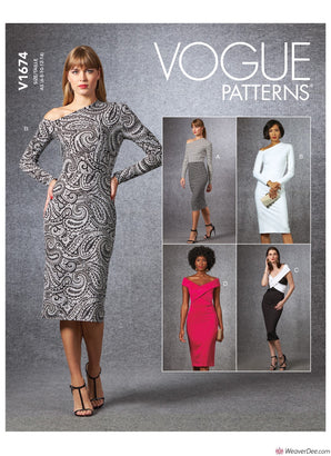 Vogue Pattern V1674 Misses' Dress