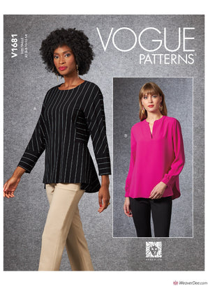Vogue Pattern V1681 Misses' Top