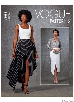 Vogue Pattern V1683 Misses' Skirt