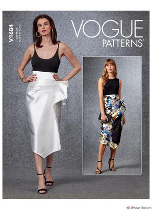 Vogue Pattern V1684 Misses' Skirt