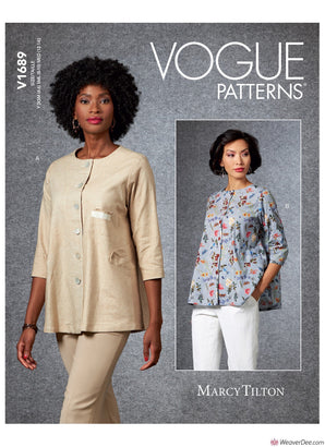 Vogue Pattern V1689 Misses' Jacket