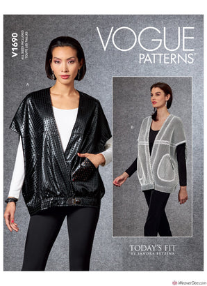 Vogue Pattern V1690 Misses' Vest