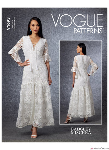 Vogue Pattern V1693 Misses' Special Occasion Dress
