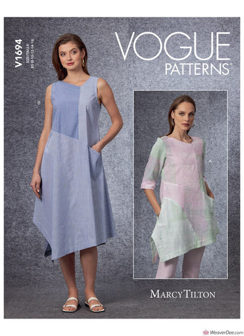 Vogue Pattern V1694 Misses' Tunic & Dress