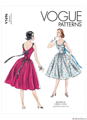 Vogue Pattern V1696 Misses' Dress - Vintage 1950s