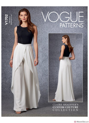 Vogue Pattern V1702 Misses' Trousers