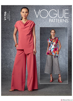 Vogue Pattern V1706 Misses' Tops & Trousers