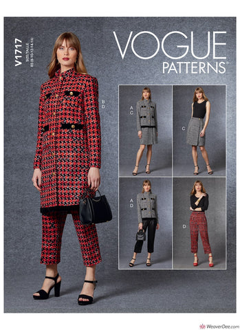 Vogue Pattern V1717 Misses' Jacket, Skirt & Trousers