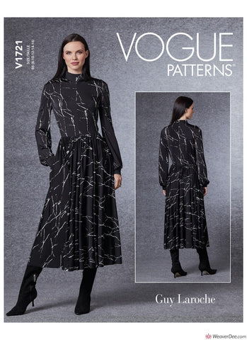 Vogue Pattern V1721 Misses' Dress