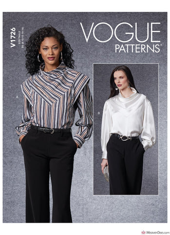 Vogue Pattern V1726 Misses' Top