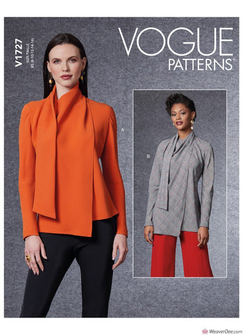 Vogue Pattern V1727 Misses' Blouse