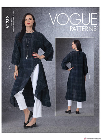 Vogue Pattern V1739 Misses' Tunic & Trousers
