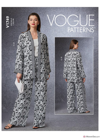Vogue Pattern V1749 Misses' Vest, Jacket & Trousers