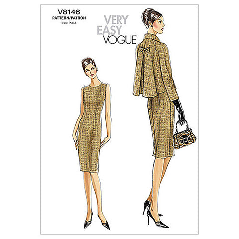 Vogue - V8146 Misses'/Misses' Petite Jacket & Dress | Very Easy - WeaverDee.com Sewing & Crafts - 1