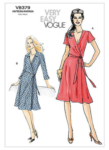 Vogue - V8379 Misses' Classic Wrap Dress | Very Easy - WeaverDee.com Sewing & Crafts - 1