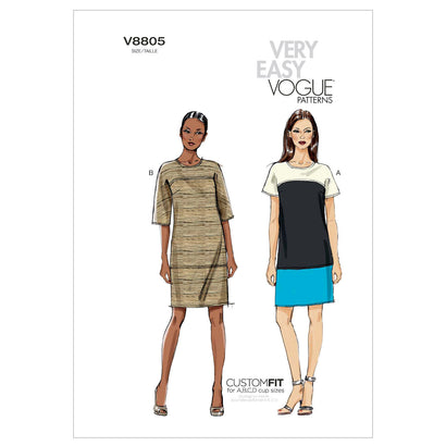 Vogue - V8805 Misses' Dress | Very Easy - WeaverDee.com Sewing & Crafts - 1