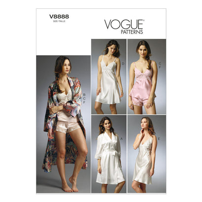 Vogue - V8888 Misses' Robe, Slip, Camisole & Panties | Easy - WeaverDee.com Sewing & Crafts - 1
