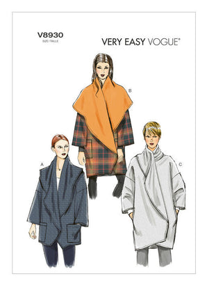 Vogue - V8930 Misses' Jacket | Very Easy - WeaverDee.com Sewing & Crafts - 1