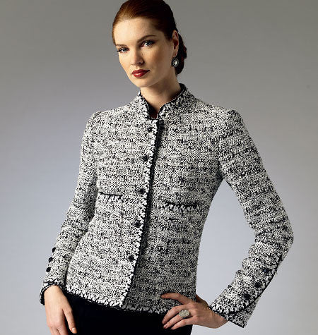 Vogue - V8991 Misses' / Petite Jacket | Average - WeaverDee.com Sewing & Crafts - 1