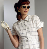 Vogue - V9000 Misses' Vintage 1950's Dress & Belt - WeaverDee.com Sewing & Crafts - 3