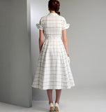 Vogue - V9000 Misses' Vintage 1950's Dress & Belt - WeaverDee.com Sewing & Crafts - 4
