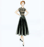 Vogue - V9000 Misses' Vintage 1950's Dress & Belt - WeaverDee.com Sewing & Crafts - 6
