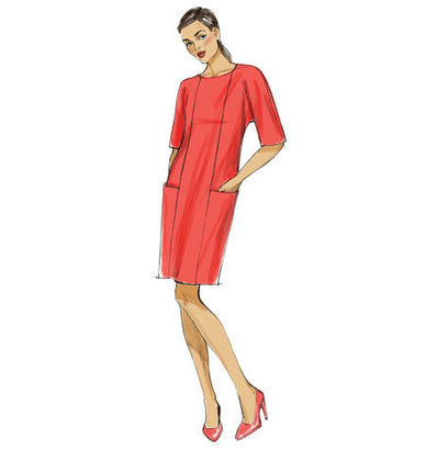 Vogue Pattern V9022 Misses' Dolman Sleeve Dresses - VERY EASY