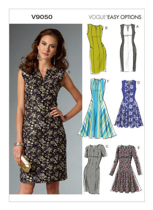 Vogue - V9050 Misses'/Misses' Petite Dress | Easy - WeaverDee.com Sewing & Crafts - 1