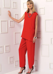 Vogue - V9193 Misses' Sleeveless or Dolman Sleeve Tunics & Pants with Yoke - WeaverDee.com Sewing & Crafts - 1