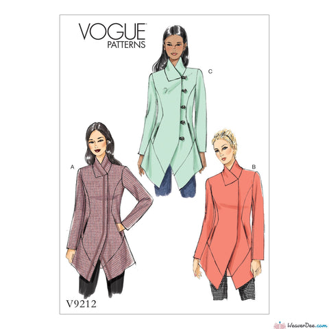 Vogue - V9212 Misses' Seamed & Collared Jackets - WeaverDee.com Sewing & Crafts - 1