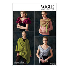 Vogue Pattern V9291 Misses' Wraps, Shrug & Scarf