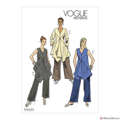 Vogue Pattern V9335 Misses' Tunic & Trousers