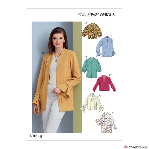 Vogue Pattern V9338 Misses' Jacket