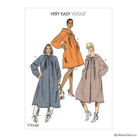 Vogue Pattern V9340 Misses' Coat